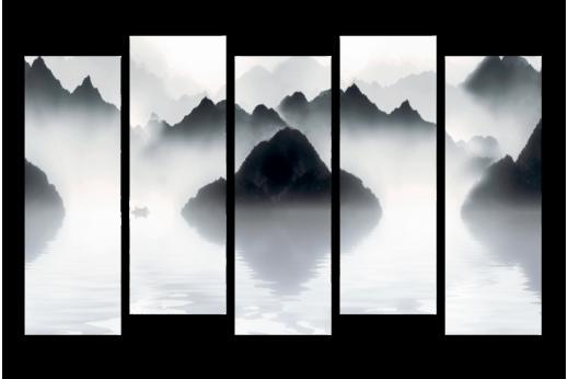 Модульная картина Горы в тумане